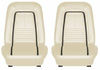 1967 Camaro Deluxe Interior Bucket Seat Covers  Parchment