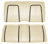 1967 Camaro Coupe Deluxe Interior Rear Seat Covers  Parchment