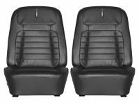1968 Camaro Deluxe Interior Bucket Seat Covers  Black