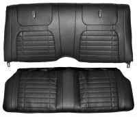 1968 Camaro Coupe Deluxe Interior Rear Seat Covers  Black