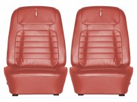 1968 Camaro Deluxe Interior Bucket Seat Covers  Red
