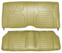 1968 Camaro Coupe Deluxe Interior Rear Seat Covers  Ivy Gold