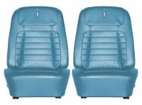 1968 Camaro Deluxe Interior Bucket Seat Covers  Medium Blue