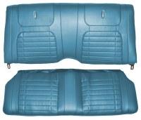 1968 Camaro Coupe Deluxe Interior Rear Seat Covers  Medium Blue