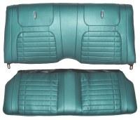 1968 Camaro Deluxe Interior Fold Down Rear Seat Covers  Aqua