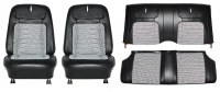 1968 Camaro Deluxe Houndstooth Interior Seat Cover Kit  OE Quality! Black