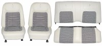 1968 Camaro Deluxe Houndstooth Interior Seat Cover Kit  OE Quality! White