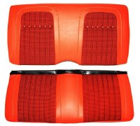 1969 Camaro Convertible Deluxe Houndstooth Interior Rear Seat Covers Orange