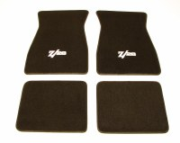 1967 1968 1969  Camaro Carpeted Floor Mats With Z/28 Logo Black