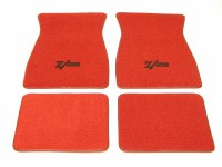1967 1968 1969  Camaro Carpeted Floor Mats With Z/28 Logo Red