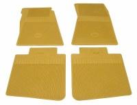 1967 Camaro Bowtie Rubber Floor Mats Front & Rear OE Style  Gold