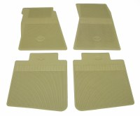 68 69  Camaro Bowtie Rubber Floor Mats Front & Rear OE Style  Ivy Gold