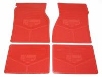 """67 68 69  Camaro Rubber Floor Mats """"Camaro SS"""" Logo  Red"""