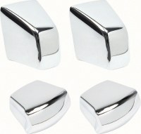 1967 1968 1969 1970 Camaro & Firebird Bucket Seat Chrome Knob Kit 4 Pcs