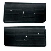 1968 Camaro Standard Interior Door Panels  Unassembled  Black