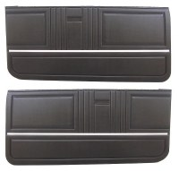 1967 Camaro  Standard Interior Pre-Assembled OE Style Door Panels  Black