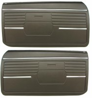1968 Camaro Standard Interior Pre-Assembled OE Style Door Panels  Black