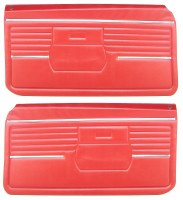 1968 Camaro Standard Interior Pre-Assembled OE Style Door Panels  Red