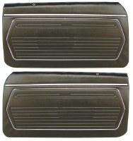 1969 Camaro Standard Interior Pre-Assembled OE Style Door Panels  Black