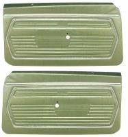 1969 Camaro Standard Interior Pre-Assembled OE Style Door Panels  Dark Green