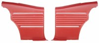 1968 Camaro Coupe Standard Interior  OE Style Rear Side Panels  Red