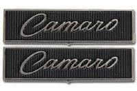 1968 1969 Camaro Standard Interior Door Panel Emblems Pair