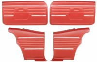 1968 Camaro Coupe Pre-Assembled Front & Rear Door Panel Kit  Red