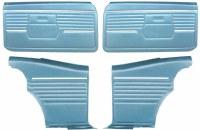 1968 Camaro Coupe Pre-Assembled Front & Rear Door Panel Kit  Medium Blue