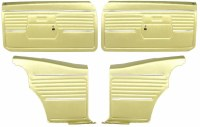 1968 Camaro Coupe Pre-Assembled Front & Rear Door Panel Kit  Ivy Gold