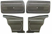 1969 Camaro Coupe Pre-Assembled Front & Rear Door Panel Kit  Black