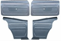 1969 Camaro Coupe Pre-Assembled Front & Rear Door Panel Kit  Dark Blue
