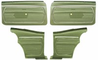 1969 Camaro Coupe Pre-Assembled Front & Rear Door Panel Kit  Dark Green