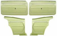 1969 Camaro Coupe Pre-Assembled Front & Rear Door Panel Kit  Moss Green
