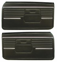 1968 Camaro  Standard Interior Pre-Assembled Door Panels  Black