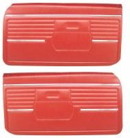 1968 Camaro Standard Interior Pre-Assembled Door Panels  Red