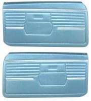 1968 Camaro Standard Interior Pre-Assembled Door Panels  Medium Blue