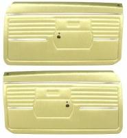 1968 Camaro Standard Interior Pre-Assembled Door Panels  Ivy Gold