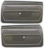 1969 Camaro Standard Interior Pre-Assembled Door Panels  Black