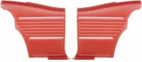 1968 Camaro Coupe Standard Interior Pre-Assembled Rear Side Panels  Red