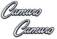 1968 1969 Camaro Deluxe Interior Door Panel Emblems Pair