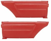 1967 Camaro & Firebird Coupe Deluxe Interior Rear Side Panels  Red