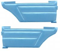 1967 Camaro & Firebird Coupe Deluxe Interior Rear Side Panels  Bright Blue