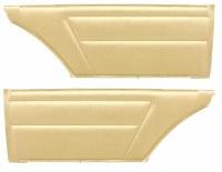 1967 Camaro & Firebird Coupe Deluxe Interior Rear Side Panels  Gold