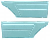 1967 Camaro & Firebird Coupe Deluxe Interior Rear Side Panels  Turquoise