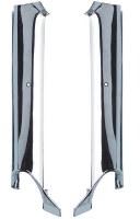 1967 Camaro & Firebird Convertible Chrome Pillar Post Interior Moldings Pair