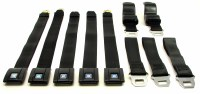 67 68 69 Camaro & Firebird Standard Front & Rear Seatbelt Set Does Complete Car