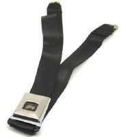 1967 Camaro & Firebird Deluxe Rear Seatbelt Set OE Style Black Each
