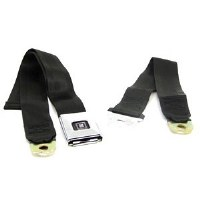 68 69 Camaro & Firebird Deluxe Rear Seatbelt Set OE Style Black Each