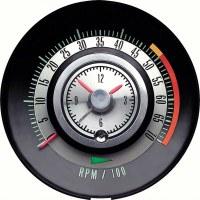 """1968 Camaro Tachometer 5000/7000 Redline Quartz Clock """"Tic Toc Tac"""" GM# 6468714"""