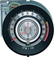 """1968 Camaro Tachometer 5500/7000 Redline Quartz Clock """"Tic Toc Tac"""" GM# 6468713"""